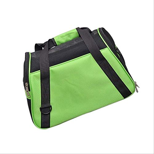 SHDS Portable Pet Dog Cat Carriers Bags Pet Backpack Messenger Cat Carrier Outgoing Travel Teddy Packets Breathable Pets Handbag 430x280x190mm Green
