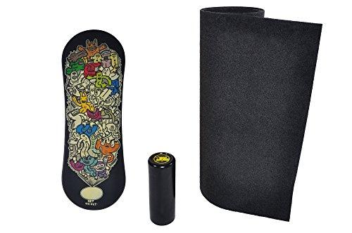 Trickboard Balance Board SET - Get Tricky + Roller + Teppich - Balance training