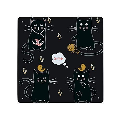 Letrero de metal con patrón de gatos negros, placa decorativa de aluminio para pared, letreros de pared para patio de casa, 30 x 30 cm, para Navidad, Halloween