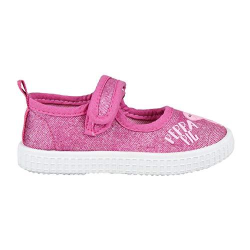 Cerdá Zapatillas Lona para Niña de Peppa Pig de Color Rosa Oscuro, Unisex niños, 24 EU