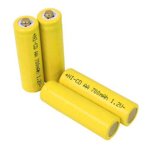 Solar Light AA Ni-CD 700mAh Rechargable Batteries (Pack of 12)