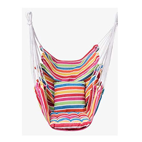 Panalaka Garden Hanging Chair Swinging Indoor Outdoor Furniture Hammock Hanging Rope Chair Swing Chair Seat Portable Camping Seat (Color : I, Size : 100x130cm)