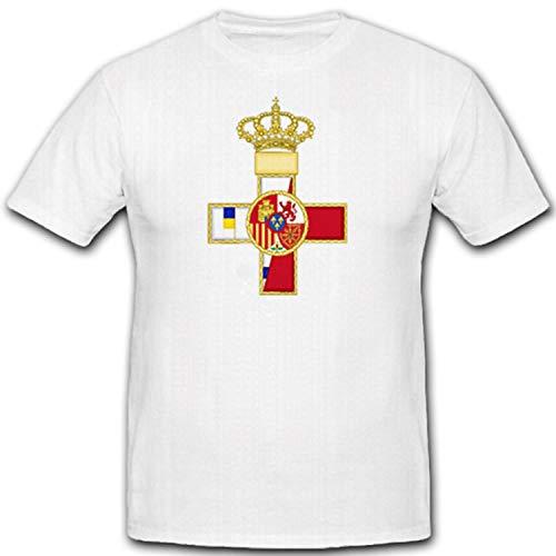 verdienst orden Militar España verdienst orden Militar Condecoración Militar–Camiseta # 7322 Weiß X-Large