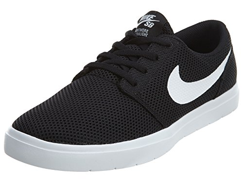 Nike Men's Sb Portmore Ii Ultralight Black/White Ankle-High Skateboarding Shoe - 10M