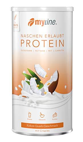 myline Protein Kokos-Quark mit Crispies - hochwertiges Proteinpulver inkl. Rezeptheft, Verpackungseinheit: 400g Dose