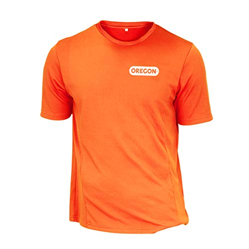 OREGON SCIENTIFIC 295480/M – Shirt kurzarm atmungsaktiv Licht hohe Sichtbarkeit, Orange – Orange