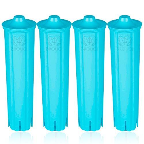 4 x BROUGI für JURA CLARIS BLUE Filterpatrone kompatibel Impressa Giga 5 ENA Micro Wasserfilter für Jura Kaffeevollautomaten geeignet
