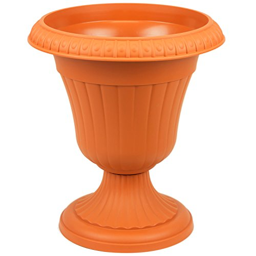 Form Plastic Pflanzpokal Amphore dekorative Pflanzgefäß Schale Vase Terracotta H 56 cm Blumentopf Milano