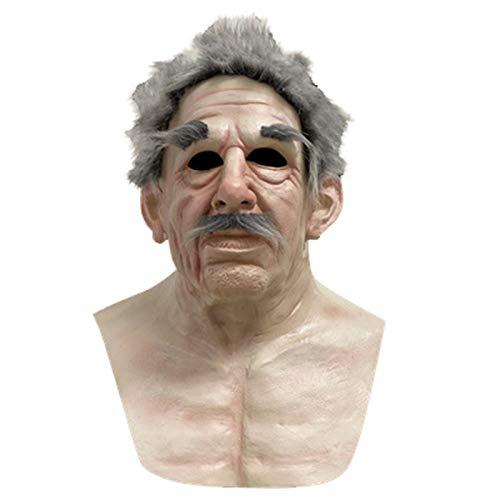 Latex Maske, Old Man Mask Halloween Gruselige Falten Gesichtsmaske