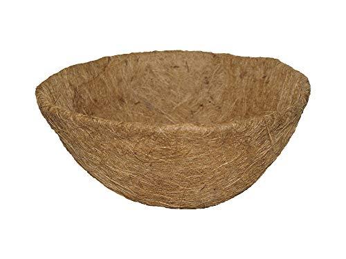 Garden Pride Hanging Basket Liner - Coco Liner - Pre-moulded to fit 12', 14' 16' or 18' Hanging Baskets (For 14' Baskets)
