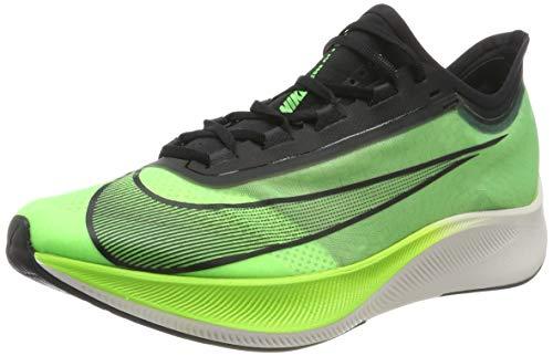 Nike Men's Zoom Fly 3 Running Shoes, (Electric Black/Vapor Green/Phantom 300), 5.5 UK
