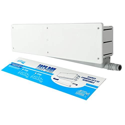 La Ventilazione FSPR65 Cassetta predisposizione impianti Easy Box con scarico condensa reversibile. Colore bianco