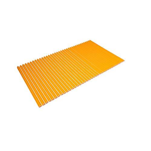 東プレ シャッター式風呂ふた 波型 カラーウェーブ 75×120cm オレンジ L12