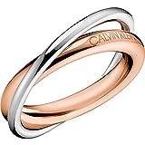 Calvin Klein - Anillo para mujer joyas de doble medida 12 Trendy cód. KJ8XPR200106