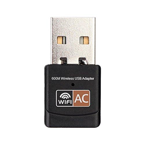 600 Mbps de Banda Dual 2.4G / 5G Hz LAN inalámbrica USB PC WiFi Adaptador Red 802.11AC
