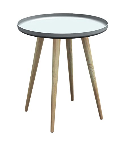 Tosel Marine salontafel, rond, staal, natuur, 42 x 42 x 50 cm