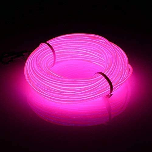 JIGUOOR EL Wire Battery Pack 16 4ft 5m Bright Neon Light Strip 360 Illumination Neon Tube Rope product image