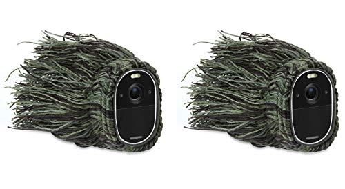 Wasserstein Outdoor Ghillie Skin (Tarnhaut), kompatibel mit Arlo Essential Spotlight Kamera - verstecken und schützen Sie Ihren Arlo Essential Spotlight (2er Pack)