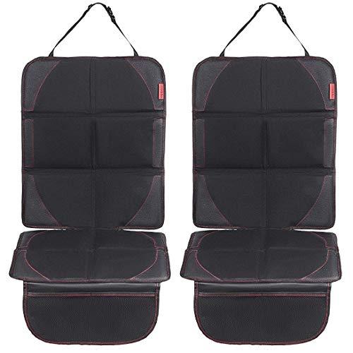 8safe Protector de Alta Calidad para Asiento de Coche (PACK x 2) | Antideslizante y Resistente | ISOFIX Compatible | Material Oxford 600D | Tamaño ideal para Turismos/SUV