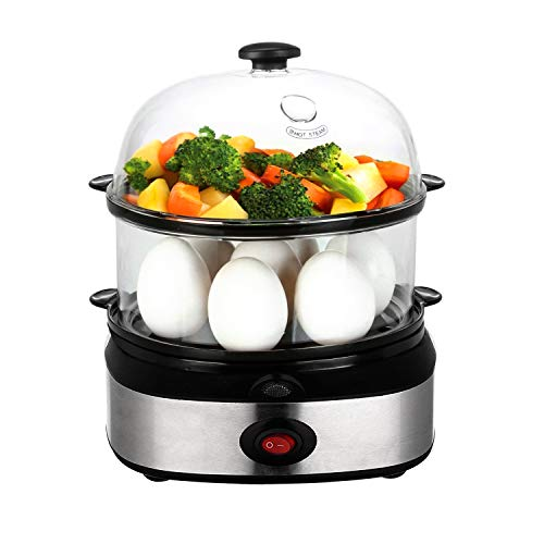 Egg Cooker, PowerDoF ZDQ-702A Multifunctional Dual Layer Electric Egg Cooker with 14 Egg Capacity