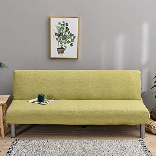 Sofabezug Ohne Armlehnen 3 Sitzer Wasserdicht, Couch Bezug Elastischer Anti Rutsch Husse, Bettcouch Schonbezug, Klappsofa Bezug (Hellgrün)