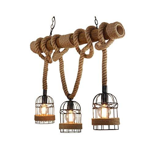 DD País Nórdico América, E27, lámpara de araña, personalidad creativa, retro, restaurante, bar, café, de tres cuerdas Lámpara LD0106