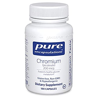 Pure Encapsulations - Chromium (Picolinate) 200 mcg - Hypoallergenic Support for Healthy Lipid and Glucose Metabolism