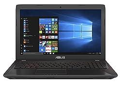 ASUS FX553VE (90NB0DX7-M03980) 39,6 cm (15,6 Zoll, FHD, Matt) Gaming (Intel Core i7-7700HQ, 16GB RAM, 256GB SSD, 1TB HDD, NVIDIA GTX1050Ti (4GB), Win 10) Schwarz