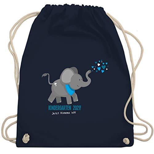 Shirtracer Kindergarten - Kindergarten 2021 süßer Elefant - Unisize - Navy Blau - stoffbeutel kinder - WM110 - Turnbeutel und Stoffbeutel aus Baumwolle