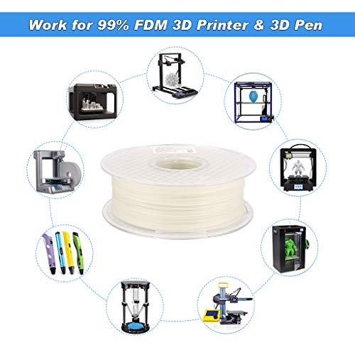 Product Image 4: AMOLEN Glow PLA Filament 1.75mm,Glow in The Dark,Deep Blue,3D Printer Filament,Creative Gift for Kid,1KG