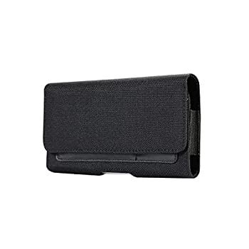 Nylon Metal Belt Clip Phone Holster Wallet Case Card Slots Fit For iPhone 8 7 Moto E  2 Gen  Blu Advance A4 Tank Xtreme 4.0 Studio G Mini Blu Dash 4.5 Alcatel OneTouch Idol 3 Nokia 1 RCA M1 4.0
