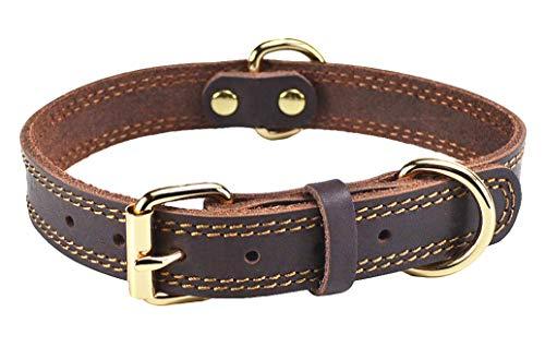 SLZZ Hundehalsband aus Leder - Geeignet für kleine Hunde mit einer Halslänge von 30 cm bis 40 cm
