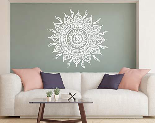 DesignQualityService | Mandala Wandtattoo | Wandaufkleber Dekor | Wandsticker kp4 (100 cm x 100 cm)