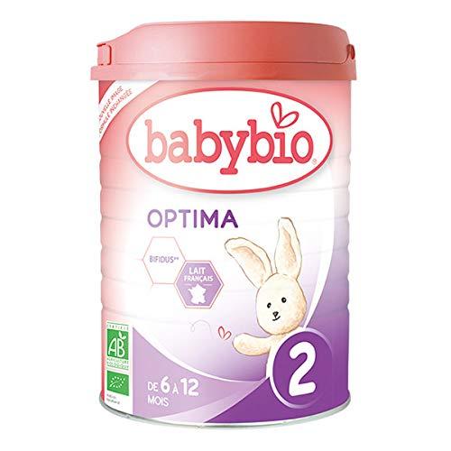 BABYBIO - Optima 2 Lait De Suite Bio De 6 À 12 Mois 900G - Lot De 2