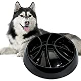 MSBC Slow Feeder Bowl, Basketball Fun Feeder Dish for Dogs Cats Pets, Anti-Gulping Interactive Bloat Stop Dog Food Bowl, Non-Slip Puzzle Pet Bowl for Slow Eating, Melamine Bowl Preventing Choking