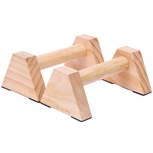 Fransande Calisthenics Handstandstange aus Holz, für Fitness, Training, Liegestütze, Doppelstab-Ständer, 1 Paar