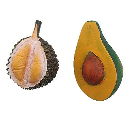 Durian Avocado 3D Koelkast Magneet Thuis Keuken Decoratie Handgemaakte Hars Voedsel Series Fruit Koelkast Magneet