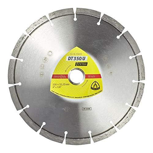 Klingspor 350464 DT 350 U EXTRA Diamanttrennscheiben für Winkelschleifer für Baustellenmaterialien, Beton, Klasse Extra, 125mm x 2.4mm x22.23mm