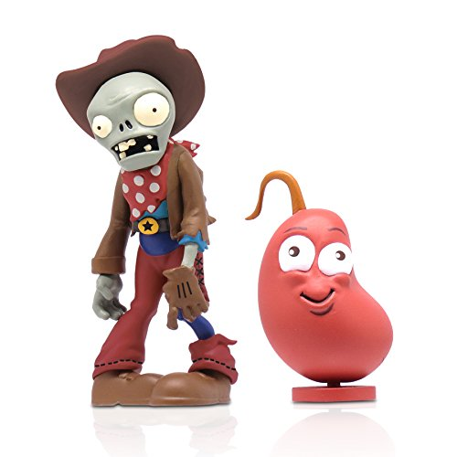 Plants Vs. Zombies 3-inch Cowboy Zombie with Chilly Bean Figure