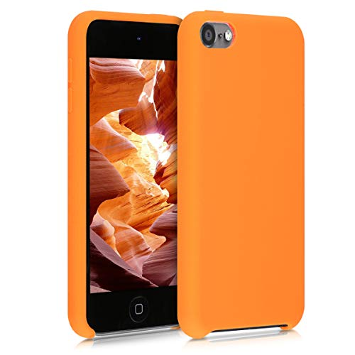 kwmobile Schutzhülle kompatibel mit Apple iPod Touch 6G / 7G (6. & 7.Generation) - Hülle Silikon gummiert - Cover Hülle in Cosmic Orange