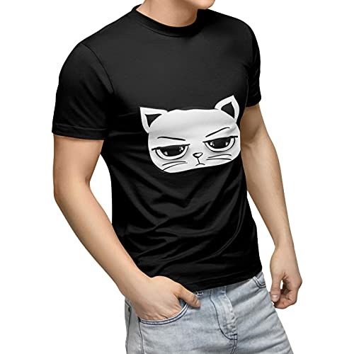 Bonamaison TRTSNB100045-L Camiseta, Negro, L Unisex Adulto