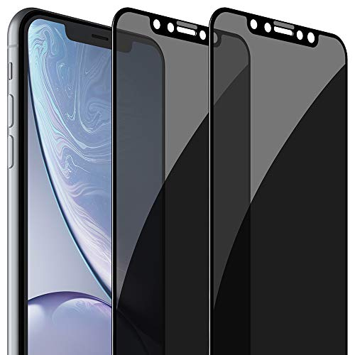 FlexGear Privacy Screen Protector for iPhone 11/ iPhone XR [Full Coverage] Tempered Glass (2-Pack)