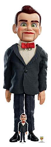 Star Cutouts SC1363 - Muñeca ventrilóquica de tamaño real (183 cm de altura, incluye escritorio de cartón Standee Toy Story 4 Party and Collectors Item, multicolor)