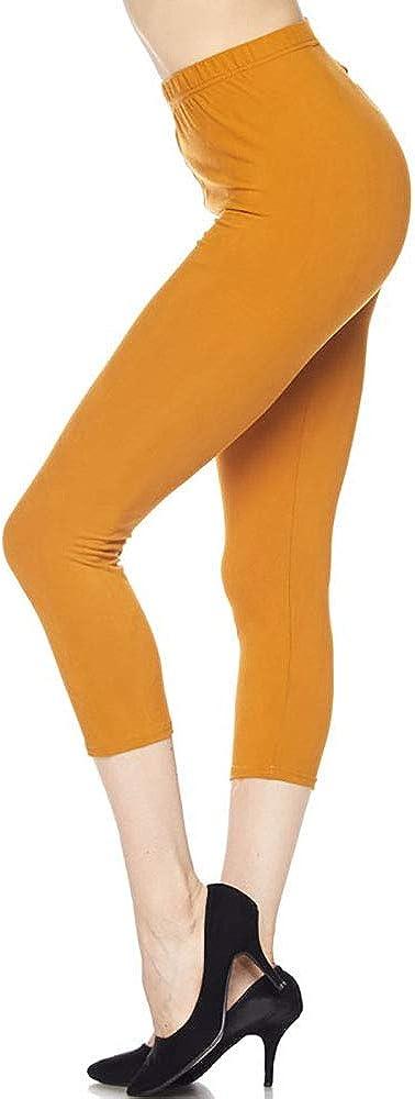 Makkat Women's Buttery Soft Printed Leggings Regular and Plus Sizes