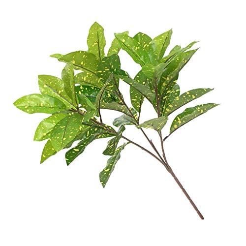 FLAMEER Künstliche Pflanzenblätter Grüne Zimmerpflanzen Haus Büro Dekoration - Typ 2