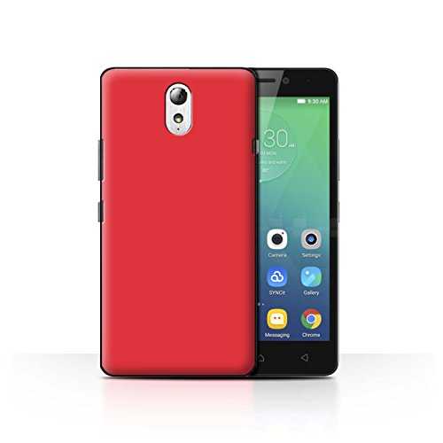 Hülle Für Lenovo Vibe P1m Farben Rot Design Transparent Ultra Dünn Klar Hart Schutz Handyhülle Hülle