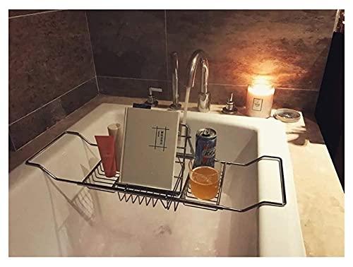 Cubierta de la bañera Bañera Lectura Rack Baño Estante de vino Metal Retraíble Acero inoxidable Estante de baño Baño Rack de almacenamiento Cubierta de bañera plegable Materiales seguros y ecológicos.