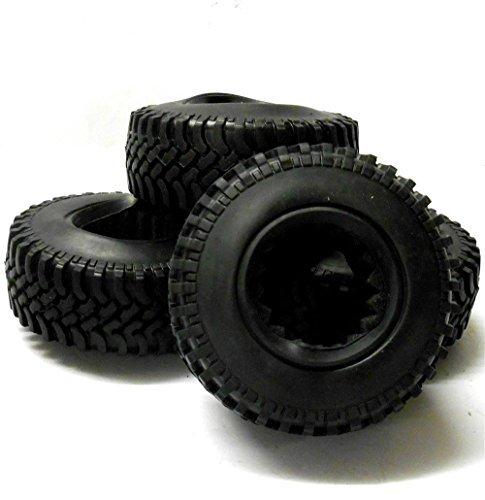 ABSIMA HS212006 1/10 Maßstab RC Offroad Fels Raupen Gewinde Reifen Schwarz 100mm Schaumstoff-Einlage