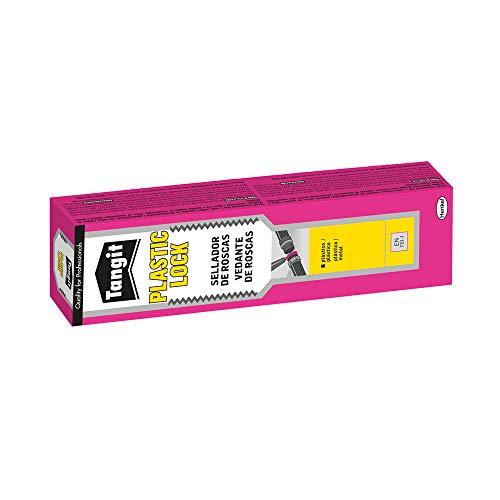 Tangit 2073766 Plasticlock, tuberías Metal, sellador de plástico Fija roscas para uniones estancas, 1 x 100 ml