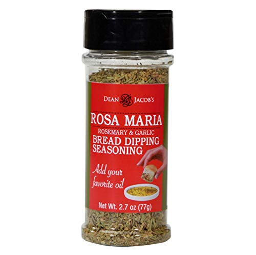 Dean Jacob's Rosa Maria Bread Dipping Seasoning 2.7oz Stacking Jars 2 pack - a delicious Rosemary and Garlic Herb Blend